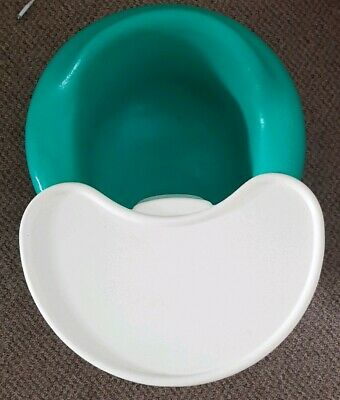Bumbo baby seat with tray - turquoise green