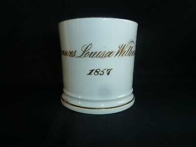 Victorian 19th Century China Gilded Mug Frances Louisa Williamson 1857