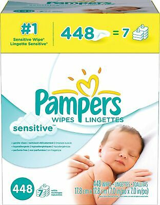 Pampers Sensitive Wipes 448/Count 1124056