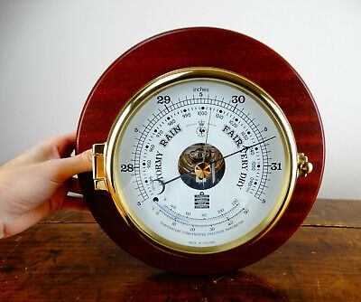 Sewills Liverpool Brass Ships Bulkhead Barometer Thermometer Wall Mounted Marine