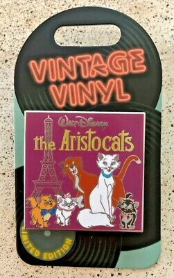 Disney Pin of the Month Vintage Vinyl Pin LE Aristocats 3000