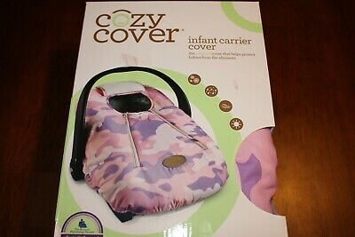 Car Seat Cover Baby Infant Cozy Warm Weatherproof Microfiber Pink Camo Carrier