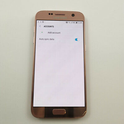 Samsung Galaxy S7 G930F - 32GB - Pink - Unlocked - Grade A - Dark Screen Burn