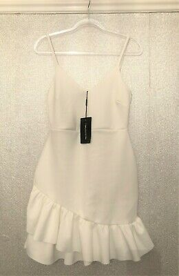 Pretty Little Thing White Dress Size 14 - Brand New With Tags