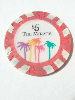 Mirage Casino Las Vegas, Nevada $5.00 Gaming Chip Great For Any Collection!