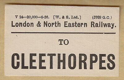 London & North Eastern Railway Luggage Label - Cleethorpes