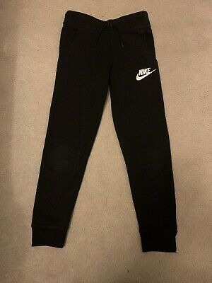 Girls Black Nike Joggers - Age 8-10