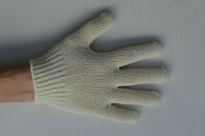 2 x Pairs of Girls / Boys Stretchy Magic Gloves Cream One Size Made in Japan