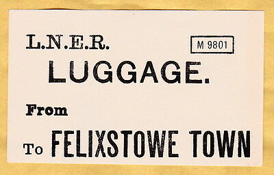 London & North Eastern Railway Luggage Label - Felixstowe Town