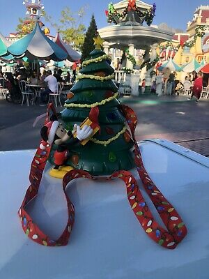 Christmas Tree Popcorn Bucket Mickey Holiday  Disney Parks Disneyland New 2019