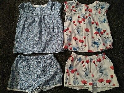 Girls NEXT Summer Bundle 2 Outfits, top & shorts Age 4-5 Years Excellent Cond