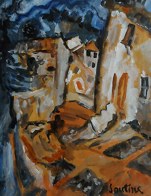 Fine French antique early Expressionism original oil painting, Signed