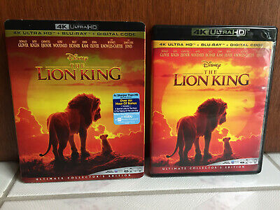 THE LION KING live action 2019 (4K UHD+Bluray) slipcover . disney beyonce glover