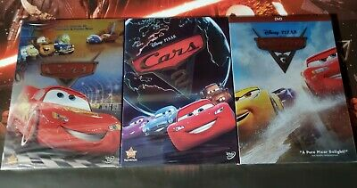 Cars DVD Movies 1-3 1 2 3 Trilogy Brand New Free Shipping Disney Pixar