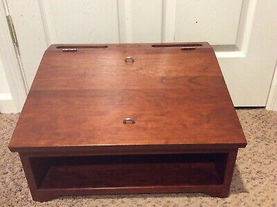 Tom Seely Furniture USA Mobile Lecturn Podium Cherry Wood - Signed