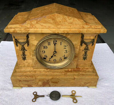 1920's Antique Seth Thomas Mantel Clock Working Correctly Adamantine