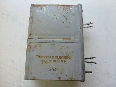 Western Electric 157A  / 4.32MF Condensor / Capacitor Dated 1950
