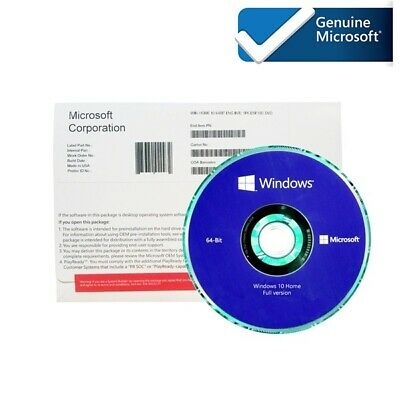 Microsoft Windows 10 Home x64 Full DVD & Key-Sealed