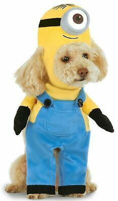 *NEW* Rubies Halloween Despicable Me STUART MINION Dog Costume  Pet Outfit