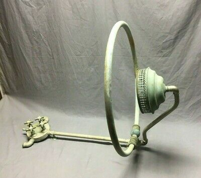 Antique Shower Head Ring Faucet Valve Mixer Nickel Brass Vtg Bathtub   357-19J
