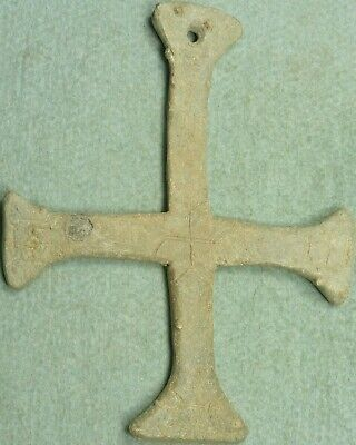 Byzantine Lead Cross Pendant