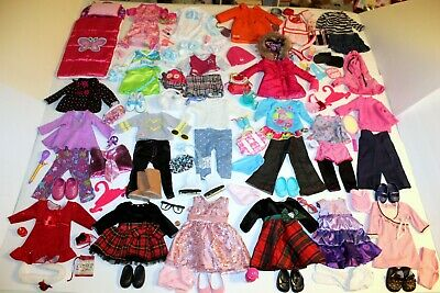 """18"""" Doll Clothes Shoes Accessories 114 Pc Lot Our Generation American Girl Batta"""
