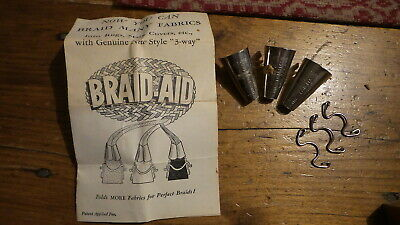 Set of Three BRAID-AID 3-Way, With Instructions, Rug Making