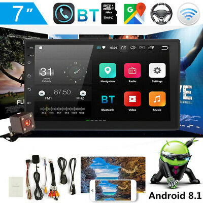 """Android 8.1 GPS Navigation WiFi 7"""" 2 DIN Car Stereo MP5 Player FM Radio + Camera"""