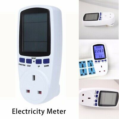 LCD Plug in Electricity Power Consumption Meter Energy Monitor Watt Kwh Analyzer