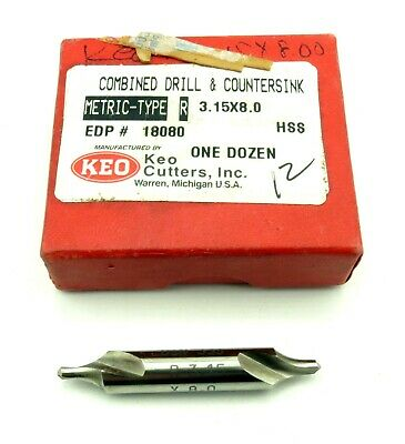 KEO Combined Drill & Countersink HSS 3.15 x 8 Lot of 12 NEW