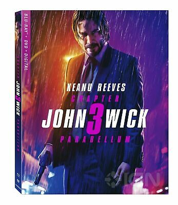 NEW!!! John Wick Chapter 3 Parabellum (Blu-ray/DVD/Digital, 2019)