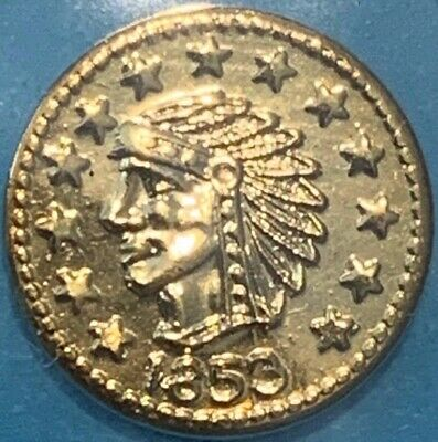 1853 California Fractional 1/4 Gold - Indian Head Coin