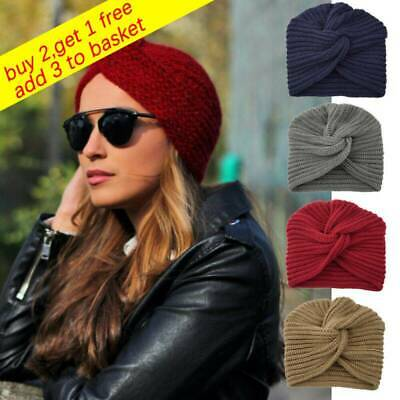 Winter Knitted Women Felt Hat Twist Headwrap Hat Ladies Turban Head Wrap Caps