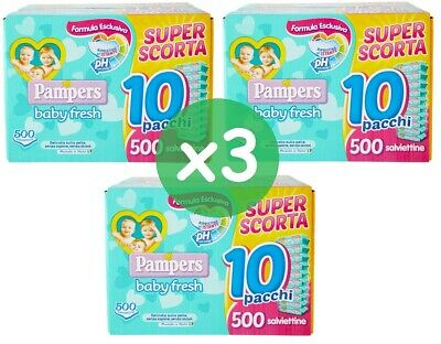 1.500 Serviette Pampers Baby Fresh Cleaning Little Boy Girl Soft without Alcohol