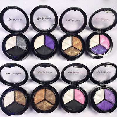 3Colors Shimmer Eyeshadow Palette Makeup Cosmetic Glitter Eye Shadow Matte Ccc
