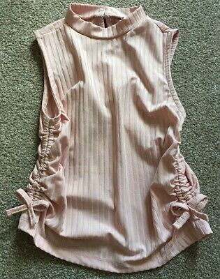 River Island Girls Dusky Pink Top Age 9-10 (worn once)
