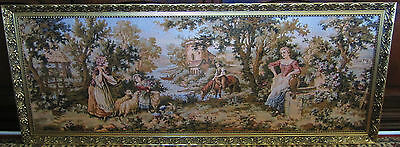Huge Antique Tapestry in Amazing Condition, Brilliant Colors for Age