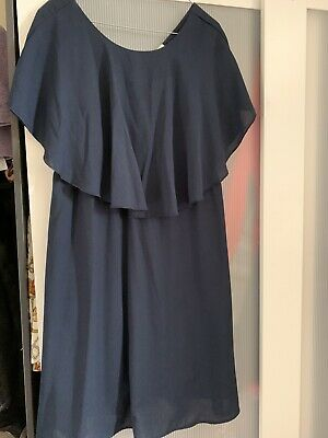 Mamalicious Nursing Breastfeeding Dress Size L Navy Wedding
