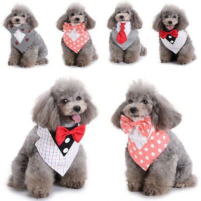 Dogs Clothes Adjustable Pet Dog Cat Puppy Bow Tie-Collar Necktie Bowknot New