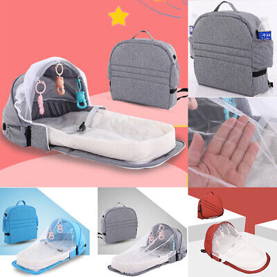 Foldable Cradle Bed Mosquito Nets Tent Mattress Bed Cover Travel Portable Crib