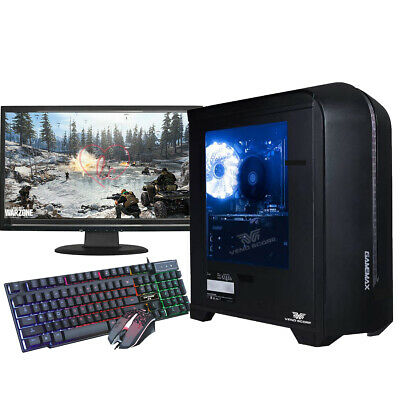 Fast Gaming PC Bundle Monitor Quad Core i5 16GB 2TB Win 10 2GB GT710 FORTNITE PC