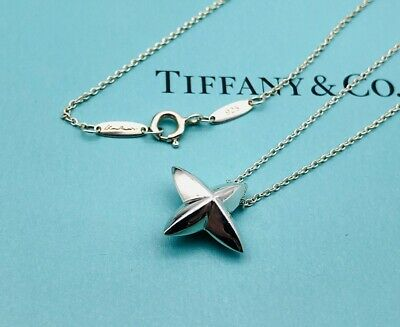 "Authentic Tiffany & Co Necklace Elsa Peretti Sirius Star Sterling Silver 19"" N19"