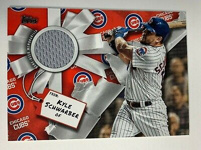 2019 Topps Holiday Box Walmart Kyle Schwarber Cubs Jersey Relic WHR-KS