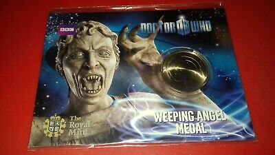 BBC (Dr) Doctor Who Weeping Angel medal / coin from The Royal Mint Sealed Rare!