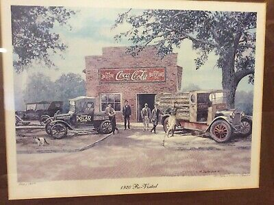 1920 Revisted Coca Cola Print M Stephen Bach 1980 Numbered Framed