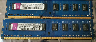KIT RAM 4GB (2X 2GB) DDR3 PC3-10600U 1333MHz MEMORIA PC3-10600 240PIN KINGSTON