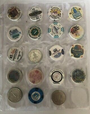 Lot Of 19 Colorado Casino Chips $1