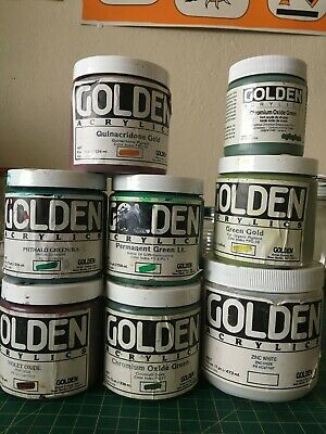8 Used TUBS Golden PROFESSIONAL ACRYLIC paint PRO high quality artist grade