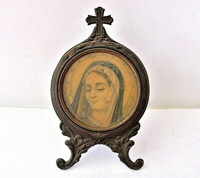 ANTIQUE VERY Old Orthodox  print icon of Virgin Mary