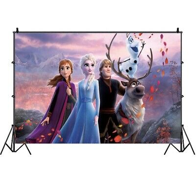 Frozen Photography Backdrop Girls Birthday Party Elsa Photo Background Prop